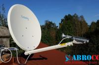 Internet Satelitarny - przykładowa instalacja