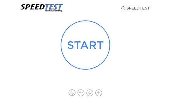 Speedtest, prędkość internetu, internet satelitarny